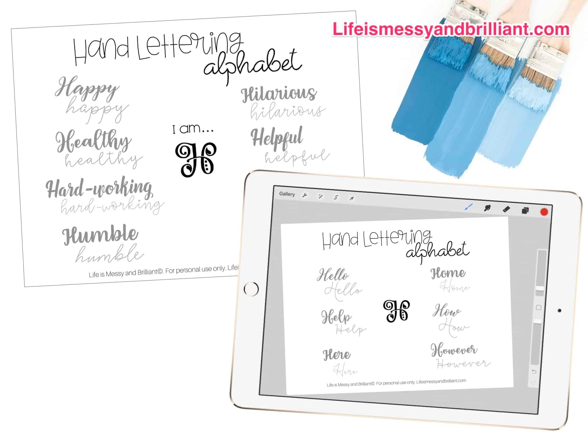 Free Hand Lettering Alphabet Practice Printables