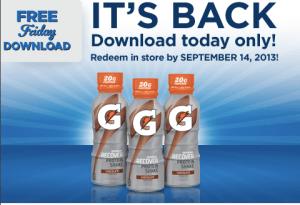 FREE Gatorade Recover Shake at Kroger