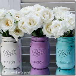 painted mason jard