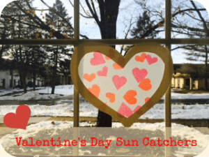 Valentine's Day Sun Catchers DIY