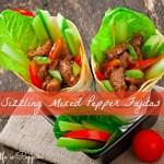 Sizzling Mixed Pepper Fajitas