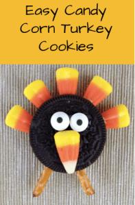 Easy Candy Corn Turkey Cookies
