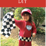 DIY Racing Halloween Costume for CHEAP! (Less than $5.00!)