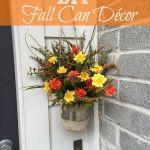 DIY Fall Can Décor