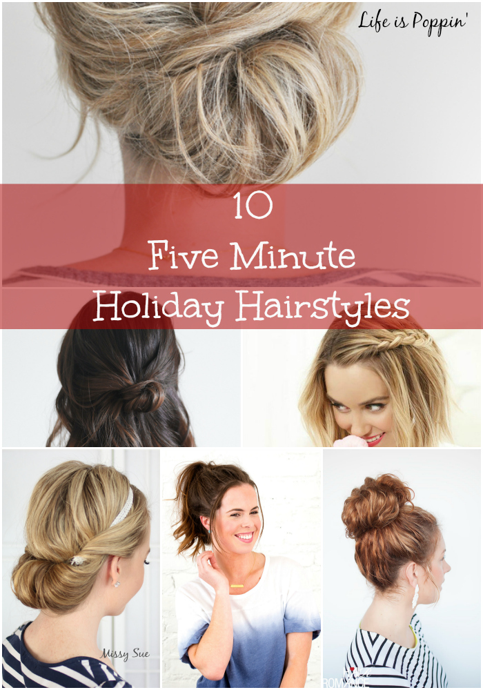 five-minute holiday hairstyles