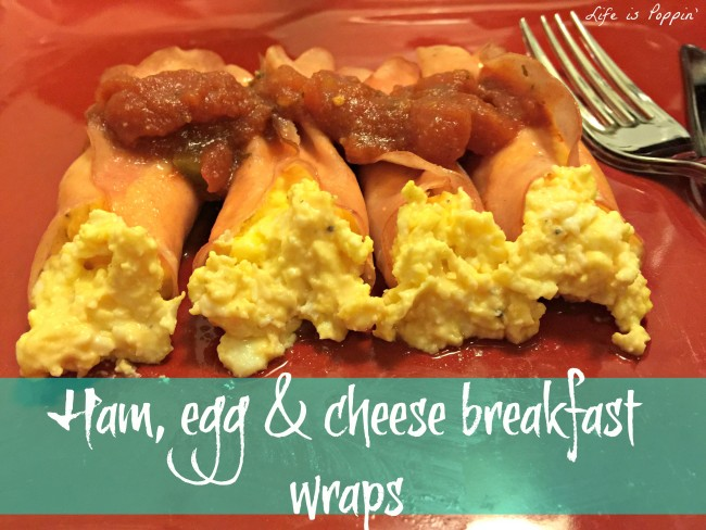 ham, egg, and cheese breakfast wraps