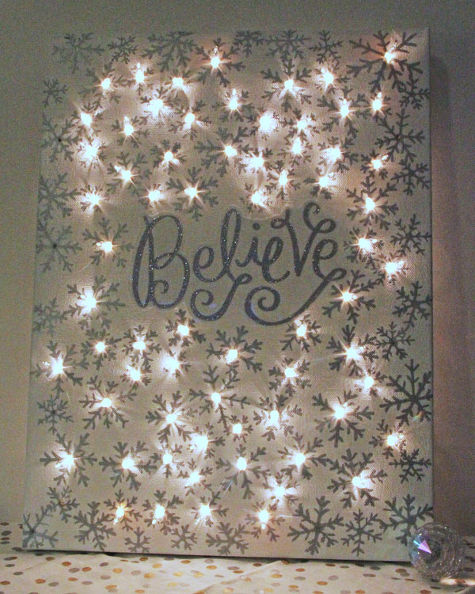 Lighted Christmas Canvas