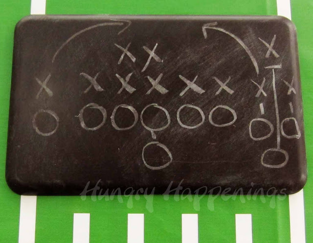 Football Play Diagram on a Choc-Board