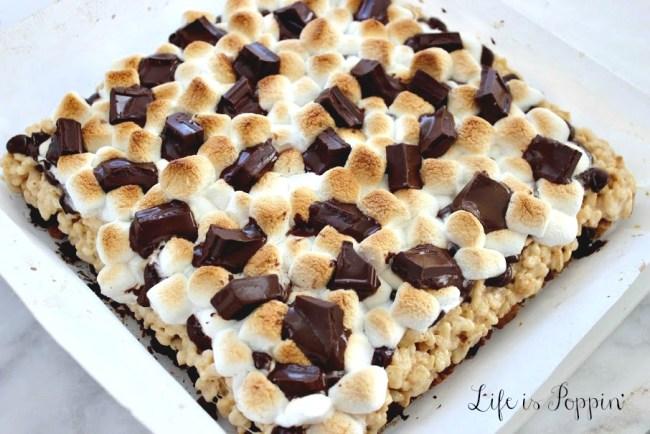 S'More's-Krispie-Treats-Baked