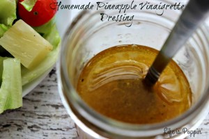 Homemade Pineapple Vinaigrette Dressing
