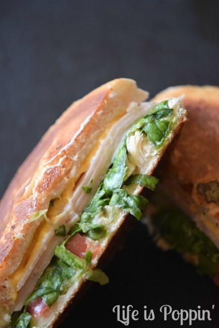 Ham & Cheddar Melt Sandwiches