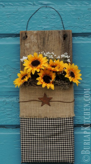 DIY- Wood PLank Flowers