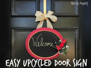Easy Upcycled Door Sign