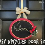 Easy Upcycled Chalkboard Door Sign