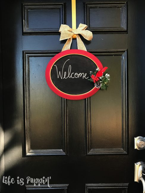 Easy Upcycled Door Sign Final