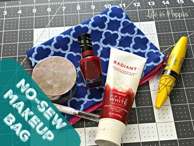 Makeup Bag DIY – No Sewing Required!