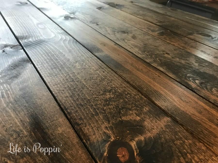 Farmhouse-Table-Staining