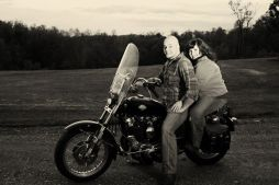 Motorcycle Engagement Photo | Life Is Sweet As A Peach