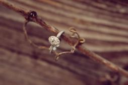 Oval Heirloom-style Engagement Ring on Branch | Life Is Sweet As A Peach