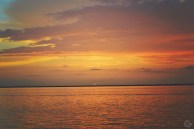Dusk Sunset Over Gulf of Mexico   Life Is Sweet As A Peach