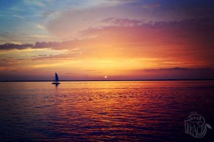 Sunset Sailboat Silhouette Destin Florida   Life Is Sweet As A Peach