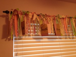 Homemade valance. Thank you Pinterest!