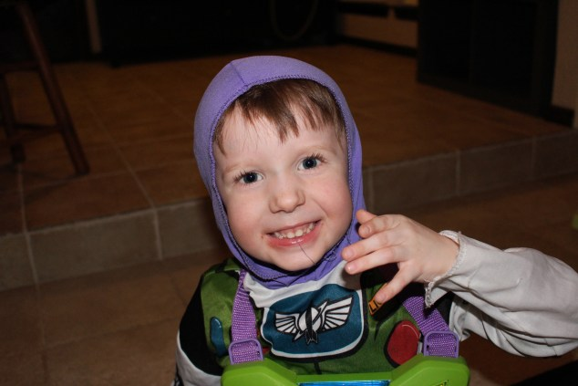 Dom dressed as buzz