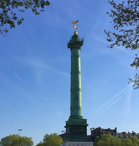 Bastille column representing the revolution and dedication to French armies