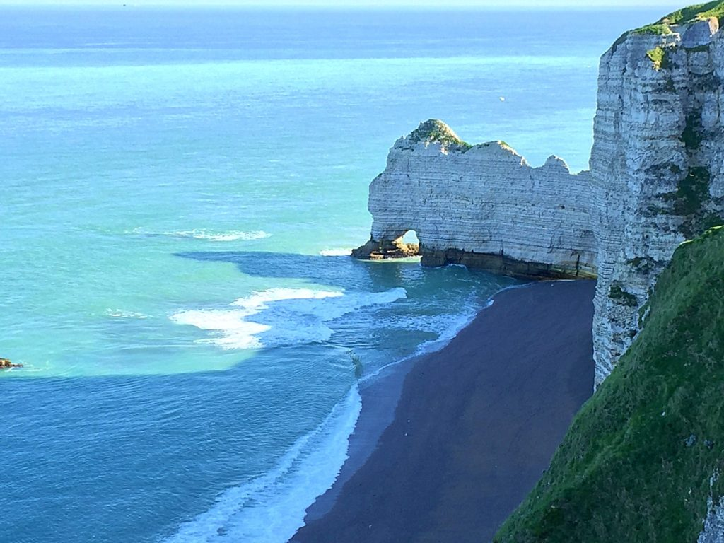 white limestone cliffs forming in the sea