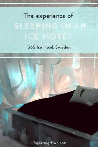 Pinterest pin - The experience of sleeping in an ice hotel
