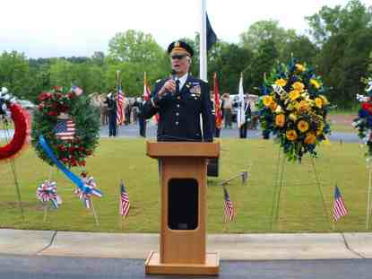 Col Dunn sings at Veterans Cemetery