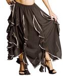 black ruffle bellydance skirt