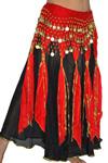 red bellydance skirt