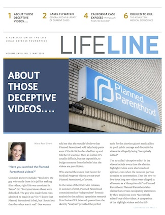 Cover of Lifeline May 2018