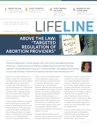 Cover of Lifeline May 2019