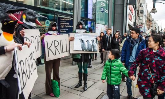 Children at protest