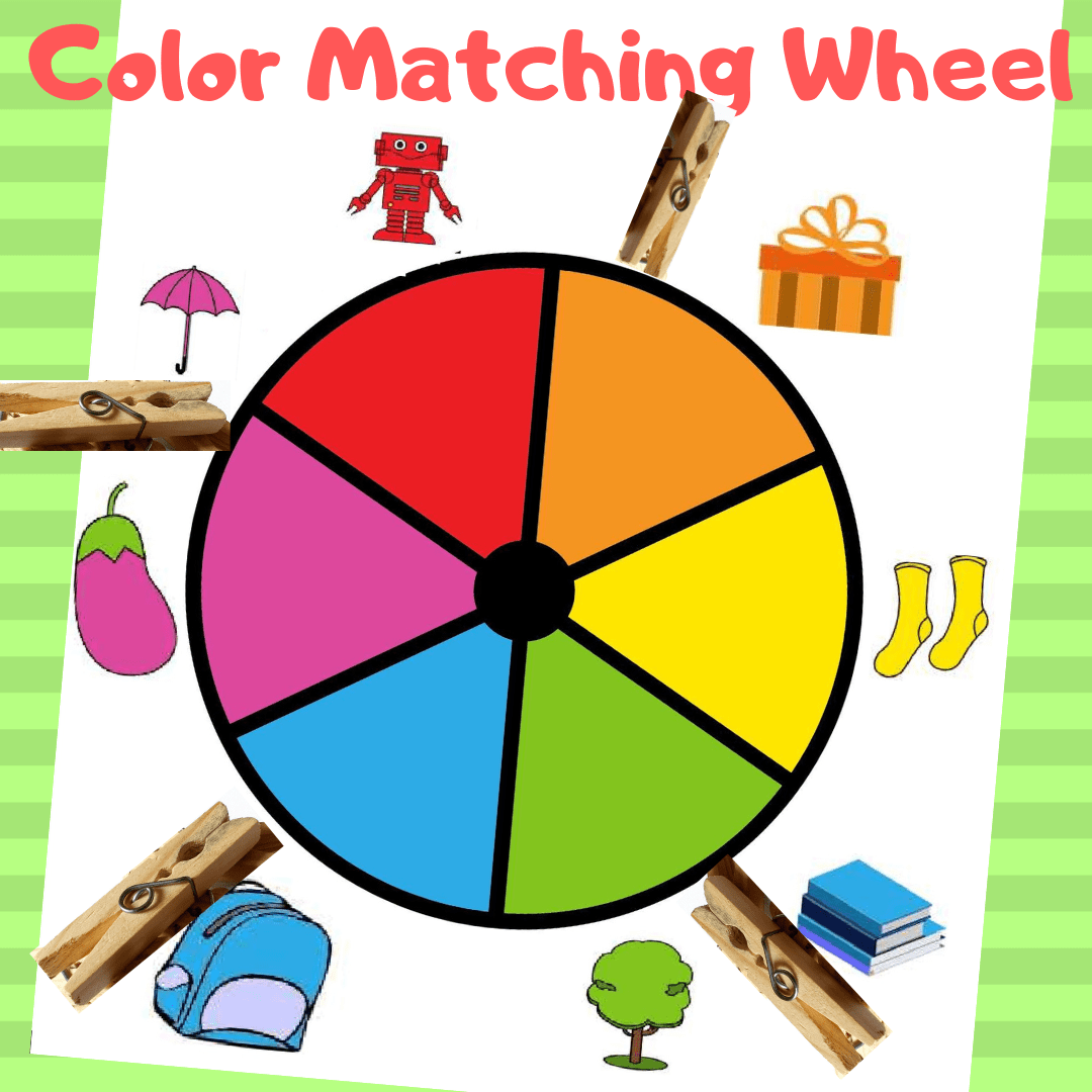 Color Matching Wheel Learn Colors Kid Activity
