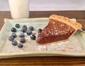 chocolate chess pie with milk lifeloveandblog