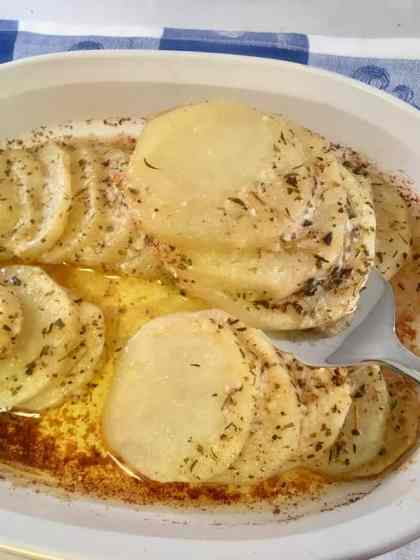 Easy Oven Roasted Parmesan Herb Potatoes