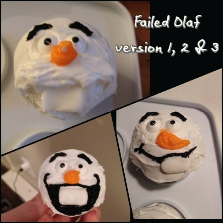 Olaf Cupcake Rejects