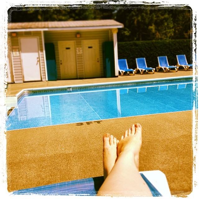 Poolside is how this mama does glamping