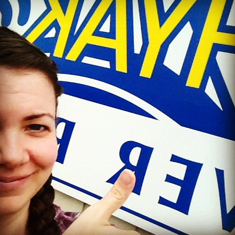 Thumbs up selfie at Hyak Rafting on Life Love and the Pursuit of Play
