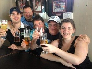 Toasting my Dad at his favourite watering hole