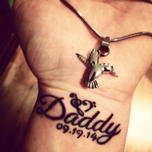 Daddy Tattoo and Memorial Necklace - memorializing my father's death