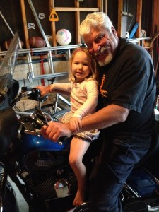 My Dad and my daughter on his beloved Harley