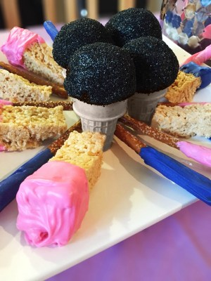 Barbie Themed Party - Microphone Cake Pops