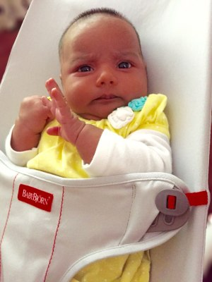 BabyBjörn Bouncer Mini tester on Life Love and the Pursuit of Play