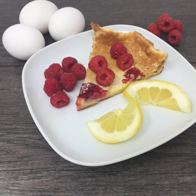 BC Eggs lemon raspberry dutch baby pancake