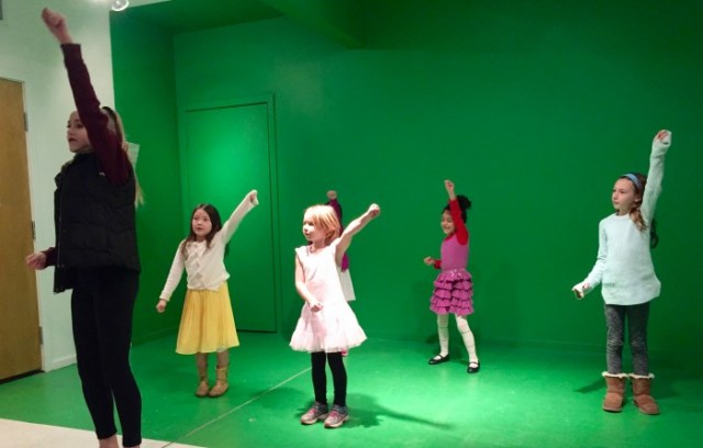 Choreography at a pop star themed birthday party