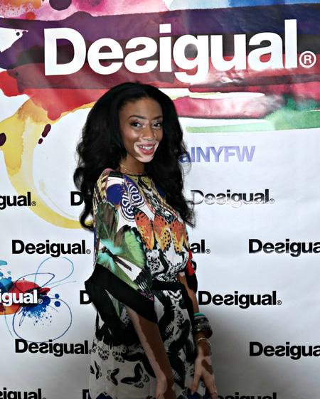 Chantelle Winnie modelling for Desigual